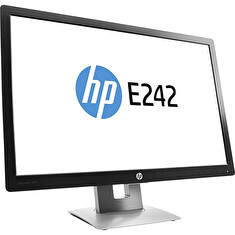 "LCD HP 24"" E242; black/gray, A-"